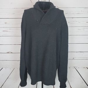 Tommy Hilfiger Wrap Collar Sweater w/Button Detail
